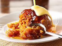 Sticky Toffee sponge Pudding and custard.