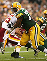 CULLEN JENKINS, of the Green Bay Packers, in action during the Packers games against the Washington Redskins, in Green Bay, Wisconsin on October 14, 2007.  ..The Packers won the game 17-14...COPYRIGHT / SPORTPICS..........