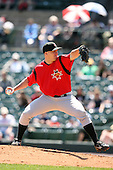 May 13, 2009:  Starting Pitcher Daniel McCutchen of the Indianapolis Indians, International League Class-AAA affiliate of the Pittsburgh Pirates, delivers a pitch during a game at Frontier Field in Rochester, FL.  Photo by:  Mike Janes/Four Seam Images