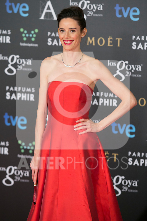 Pilar Lopez de Ayala attend the 2015 Goya Awards at Auditorium Hotel, Madrid,  Spain. February 07, 2015.(ALTERPHOTOS/)Carlos Dafonte)