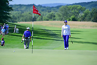 Hye-Jin Choi (a)(KOR) steps onto the 9th green to see how close her approach shot actually was during Sunday's final round of the 72nd U.S. Women's Open Championship, at Trump National Golf Club, Bedminster, New Jersey. 7/16/2017.<br /> Picture: Golffile | Ken Murray<br /> <br /> <br /> All photo usage must carry mandatory copyright credit (&copy; Golffile | Ken Murray)