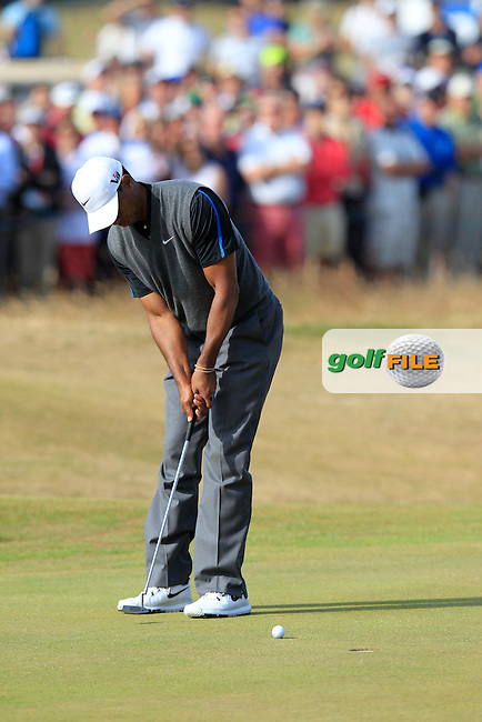 Tiger WOODS (USA) during round 3 of  The 142th Open Championship Muirfield, Gullane, East Lothian, Scotland 20/7/2013<br /> Picture Eoin Clarke www.golffile.ie: