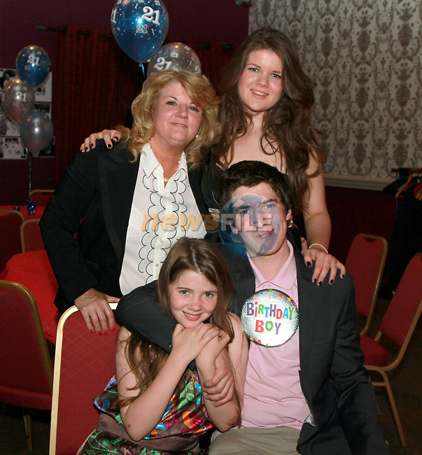 Ronan Corrigan with his family at his 21st in the Star and Crescent...(Photo credit should read Jenny Matthews www.newsfile.ie)....This Picture has been sent you under the conditions enclosed by:.Newsfile Ltd..The Studio,.Millmount Abbey,.Drogheda,.Co Meath..Ireland..Tel: +353(0)41-9871240.Fax: +353(0)41-9871260.GSM: +353(0)86-2500958.email: pictures@newsfile.ie.www.newsfile.ie.