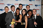 Charlie Rosen; Christopher Rice; Ariana DeBose, Zak Resnick, Carleigh Bettiol, Jeremy Yaddaw Gisela Adisa, Ben Rauhala perform at The Stars of Broadway 2015 New Year's Eve Times Square Ball Drop on December 31, 2014 at the Copacabana, New York City, New York.  (Photo by Sue Coflin/Max Photos)