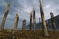 Eerie old ruins of Treadwell-Juneau, Alaska, USA