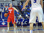 February 4, 2015 - Colorado Springs, Colorado, U.S. -   New Mexico guard, Hugh Greenwood #3, sets a play during a Mountain West Conference match-up between the New Mexico Lobos and the Air Force Academy Falcons at Clune Arena, U.S. Air Force Academy, Colorado Springs, Colorado.  Air Force upsets New Mexico 53-49.