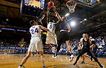 BROOKINGS, SD - NOVEMBER 6: David Jenkins #5 from South Dakota State University has his shot blocked by Trey Drechsel #2 from Grand Canyon University during their game Tuesday night at Frost Arena in Brookings, SD. (Photo by Dave Eggen/Inertia)