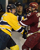 Fraser Allan (Merrimack - 2), Matt Lombardi (BC - 24) - The Merrimack College Warriors defeated the Boston College Eagles 5-3 on Sunday, November 1, 2009, at Lawler Arena in North Andover, Massachusetts splitting the weekend series.