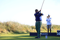 Pritesh Shah (AM) on the 16th tee during Round 1 of the 2015 Alfred Dunhill Links Championship at Kingsbarns in Scotland on 1/10/15.<br /> Picture: Thos Caffrey | Golffile