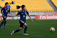 Japan&rsquo;s Yui Hasegawa in action during the  International Football - Football Ferns v Japan  at Westpac Stadium, Wellington, New Zealand on Sunday 10 June 2018.<br /> Photo by Masanori Udagawa. <br /> www.photowellington.photoshelter.com