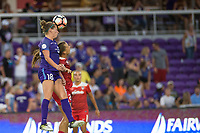 Orlando, FL - Tuesday August 08, 2017: Maddy Evans during a regular season National Women's Soccer League (NWSL) match between the Orlando Pride and the Chicago Red Stars at Orlando City Stadium.