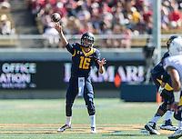 BERKELEY, CA - October 3, 2015: The Cal Bears Football team vs the Washington State Cougars at California Memorial Stadium in Berkeley, California. Final score, Cal Bears 34, Washington St. Cougars 28.
