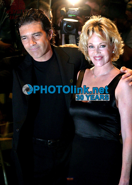 New York City<br /> CelebrityArchaeology.com<br /> 2004 FILE PHOTO<br /> MELANIE GRIFFITH ANTONIO BANDERAS<br /> Photo by John Barrett-PHOTOlink.net<br /> -----<br /> CelebrityArchaeology.com, a division of PHOTOlink,<br /> preserving the art and cultural heritage of celebrity <br /> photography from decades past for the historical<br /> benefit of future generations.<br /> ——<br /> Follow us:<br /> www.linkedin.com/in/adamscull<br /> Instagram: CelebrityArchaeology<br /> Twitter: celebarcheology