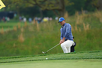 Brooks Koepka (USA) on the 5th green during the 2nd round at the PGA Championship 2019, Beth Page Black, New York, USA. 18/05/2019.<br /> Picture Fran Caffrey / Golffile.ie<br /> <br /> All photo usage must carry mandatory copyright credit (&copy; Golffile | Fran Caffrey)