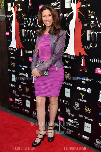 Gaynor Faye arriving for the launch of The Wreck My Dress Experience, Worsley, Manchester. 02/05/2013 Picture by: Steve Vas / Featureflash