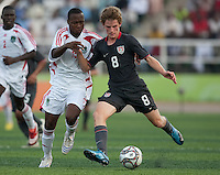 Alex Shinsky controls the ball ahead of Takondwa Issah. US Men's National Team Under 17 defeated Malawi 1-0 in the second game of the FIFA 2009 Under-17 World Cup at Sani Abacha Stadium in Kano, Nigeria on October 29, 2009.