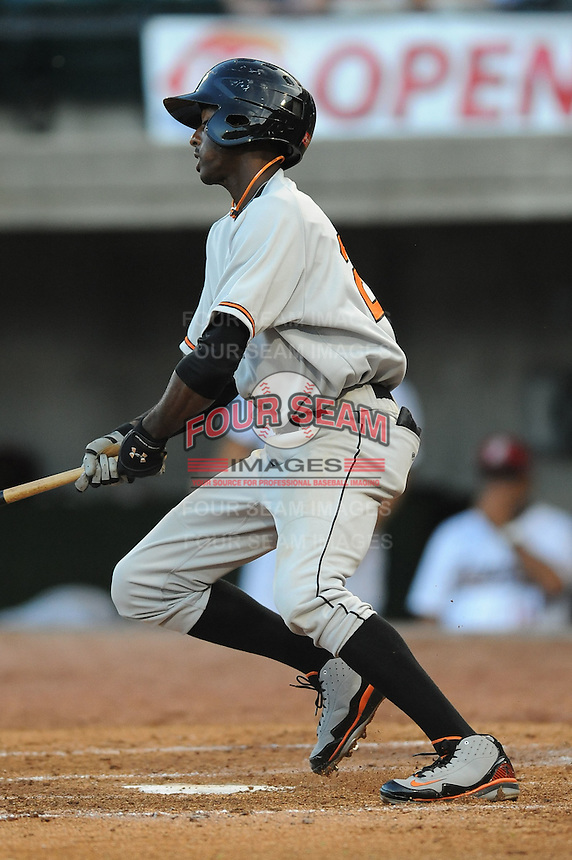 Bluefield Orioles Jeremy Shelby at Pioneer Park in Greenville, Tennessee July 19, 2010.   Greenville won the game 7-6.  Photo By Tony Farlow/Four Seam Images