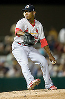 Springfield Cardinals pitcher Sam Freeman #12 delivers during the Texas League All Star Game played on June 29, 2011 at Nelson Wolff Stadium in San Antonio, Texas. The South All Star team defeated the North All Star team 3-2. (Andrew Woolley / Four Seam Images)