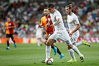 Real Madrid´s James Rodriguez and Gareth Bale during Santiago Bernabeu Trophy match at Santiago Bernabeu stadium in Madrid, Spain. August 18, 2015. (ALTERPHOTOS/Victor Blanco)