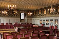 Europe/Suisse/Jura Suisse/ Neuchatel: Salle des Etats du Château qui sert de salle du tribunal communal