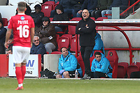 Ebbsfleet manager Garry Hill during Ebbsfleet United vs Dagenham & Redbridge, Vanarama National League Football at The Kuflink Stadium on 13th April 2019