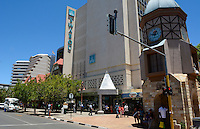 Namibia Africa Windhoek busy traffic on Independence Avenue at Watch Tower downtown in Capitol city clean and active