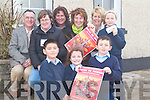 REVIVAL: Some of the members of Bouleenshere NS parents council who are organising a 'Back to Banna' dance to raise funds for equipment for the school, share the good news with the children of Bouleenshere NS, Ballyheigue, on Thursday. Front l-r: Solas O'Halloran, Miriam Hobbins and Oliver O'Halloran (pupils). Back l-r: Michea?l O'Halloran (teacher), Ann Kearney, Margaret Stritch, Cliona McGuire and Cecilia Reidy (committee) and Ciarda Supple (pupil).   Copyright Kerry's Eye 2008