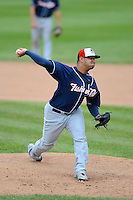 New Hampshire Fisher Cats pitcher Dustin Antolin #29 during a game against the Erie Seawolves on June 9, 2013 at Jerry Uht Park in Erie, Pennsylvania.  New Hampshire defeated Erie 3-2.  (Mike Janes/Four Seam Images)