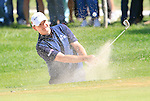 Paul Lawrie (SCO) chips out of a bunker at the 2nd green during the Final Day Sunday of the Open de Andalucia de Golf at Parador Golf Club Malaga 27th March 2011. (Photo Eoin Clarke/Golffile 2011)