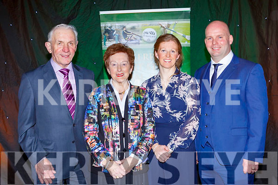 Gillian O'Sullivan who was inducted into the Hall of Fame with her family at the Kerry Sports awards show in the Gleneagle Hotel on Friday night l-r: Pat and Alice O'Sullivan, Gillian and Anthony Kelly