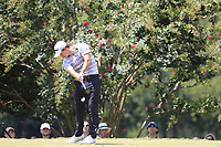 Patrick Cantlay (USA) tees off the 2nd tee during Saturday's Round 3 of the 2017 PGA Championship held at Quail Hollow Golf Club, Charlotte, North Carolina, USA. 12th August 2017.<br /> Picture: Eoin Clarke | Golffile<br /> <br /> <br /> All photos usage must carry mandatory copyright credit (&copy; Golffile | Eoin Clarke)