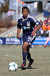 24 February 2013: Carolina's Nick Millington (GUY). The NASL Carolina RailHawks played MLS's Vancouver Whitecaps FC at WakeMed Stadium in Cary, North Carolina in a 2013 preseason game. Vancouver won the game 3-0.