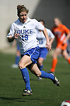 Duke's Rebecca Moros on Saturday, March 3rd, 2007 on Field 1 at SAS Soccer Park in Cary, North Carolina. The University of Florida Gators played the Duke University Blue Devils in an NCAA Division I Women's Soccer spring game.