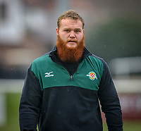 Jordan ELS of Ealing Trailfinders ahead of the Championship Cup match between Ealing Trailfinders and Richmond at Castle Bar , West Ealing , England  on 15 December 2018. Photo by David Horn.