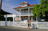 Wo Hing Temple.Built in 1909 as a chapter of the Chinese Chee Kung Tong,a 17th century fraternal society. Located on Front Street in historic Lahaina, Maui.