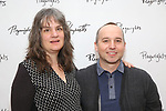 Pam MacKinnon and Jordan Harrison attend the photo call for Playwrights Horizons world premiere production of 'Log Cabin' on May 8, 2018 at Playwrights Horizons rehearsal hall in New York City.