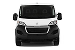 Car photography straight front view of a 2018 Peugeot Boxer Pro 5 Door Cargo Van