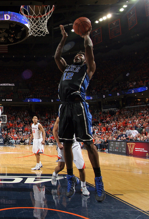 Duke forward Justise Winslow (12) during an ACC basketball game Jan. 31, 2015 in Charlottesville, VA. Duke won 69-63.