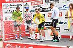 2018-07-09 / Wielrennen / Seizoen 2018 / Slotrit Sint Martinus prijs Kontich / De winnaars van de truien: Lars Hohmann (groen), Brent Van Mulders (bolletjes), Fabio Van den Bossche (geel, klassement) en Leslie L&uuml;hrs (wit en blauw)<br /> <br /> ,Foto: Mpics