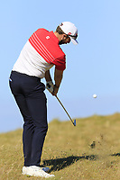 Ruaidhri McGee (IRL) plays his 3rd shot from the rough on the 3rd hole during Friday's Round 2 of the 2018 Dubai Duty Free Irish Open, held at Ballyliffin Golf Club, Ireland. 6th July 2018.<br /> Picture: Eoin Clarke | Golffile<br /> <br /> <br /> All photos usage must carry mandatory copyright credit (&copy; Golffile | Eoin Clarke)