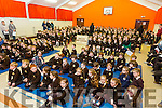 Gaelscoil Mhic Easmainn was Presented with the 1916 proclamation and Irish flag  on Tuesday by Irish defence forces Members Commandant Peadar o Cathain, Gunnadoir Daithi Breathnach, Ceannaire Marcus o Dulaing