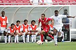 11 March 2008: Gabriel Torres (PAN) (9) and Luis Alfredo Lopez (HON) (6) challenge for the ball. The Honduras U-23 Men's National Team defeated the Panama U-23 Men's National Team 1-0 at Raymond James Stadium in Tampa, FL in a Group A game during the 2008 CONCACAF's Men's Olympic Qualifying Tournament.
