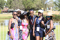 Colourful girlies and lucky man in hospitality during the third round of the of the Barclays Kenya Open played at Muthaiga Golf Club, Nairobi,  23-26 March 2017 (Picture Credit / Phil Inglis) 25/03/2017<br /> Picture: Golffile | Phil Inglis<br /> <br /> <br /> All photo usage must carry mandatory copyright credit (© Golffile | Phil Inglis)