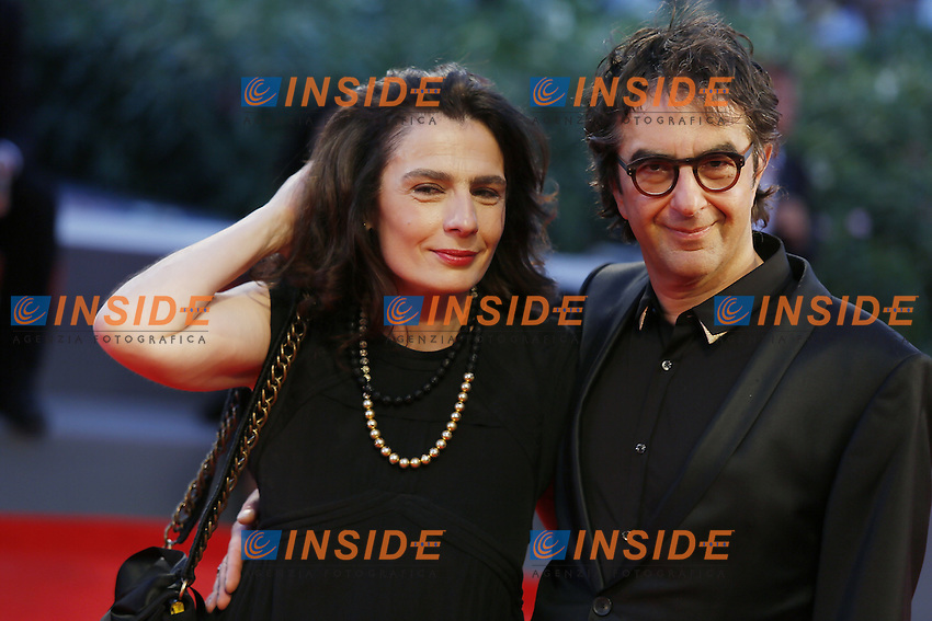 VENICE, ITALY - SEPTEMBER 10: Atom Egoyan and Arsinee Khanjian attend 'Remember' Red Carpet during 72nd Venice Film Festival at Palazzo Del Cinema on September 3, 2015 in Venice, Italy. (Mark Cape/insidefoto)