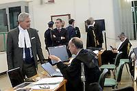 Roma, 19 Novembre 2015<br /> Avvocato Francesco Missori.<br /> Imputati detenuti dietro le sbarre delle celle.<br /> Aula bunker di Rebibbia<br /> Terza udienza del processo Mafia Capitale, Roma Capitale, avvocati,