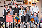 Entertaining the crowd at the Glenflesk Rambling House on Saturday night front row l-r: Bridie Sugrue, Fionn Houlihan, Jim Barry, Sean Kelliher. Back row: Neilie Moynihan, Ann Moynihan, Seamus Cahill, Mary Kelliher, and Breda Kelliher and Derry Healy