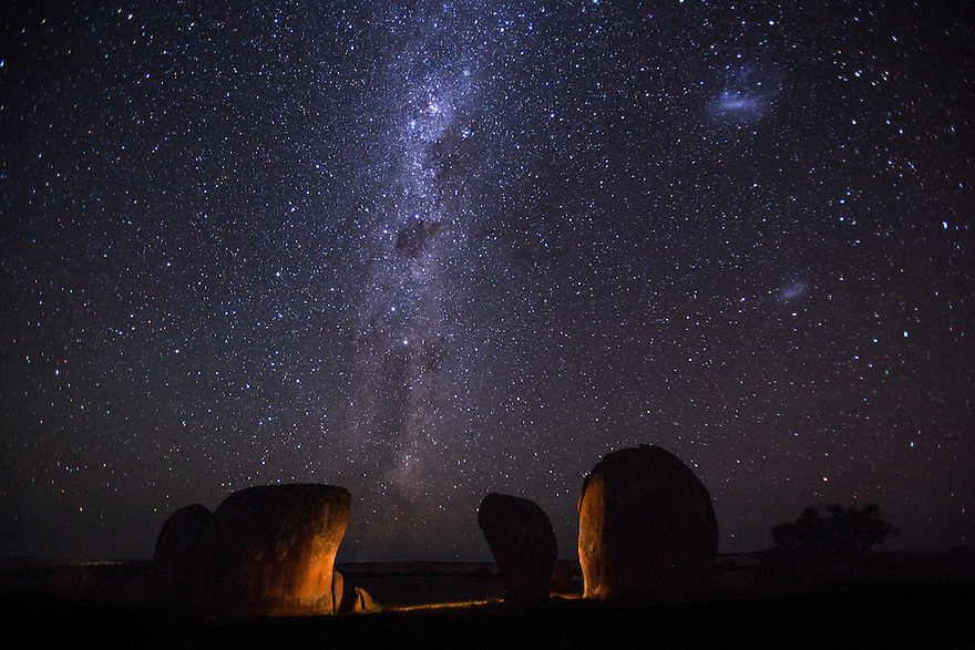 Milky Way over Murphy's Haystacks Australia