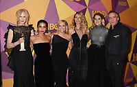 BEVERLY HILLS, CA - JANUARY 07: (L-R) Actors Nicole Kidman, Zoe Kravitz, Reese Witherspoon, Laura Dern, Shailene Woodley and director Jean-Marc Vallée arrive at HBO's Official Golden Globe Awards After Party at Circa 55 Restaurant in the Beverly Hilton Hotel on January 7, 2018 in Los Angeles, California.