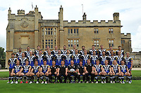 Bath Rugby pose for a squad photograph outside Farleigh House at the squad Photocall. Bath Rugby Media Day on August 21, 2012 at Farleigh House in Bath, England. Photo by: Patrick Khachfe/Onside Images