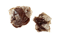 HEMATITE - IRON OXIDE<br /> Mineral Mined as Main Ore of Iron<br /> (Variations Available)<br /> Blade Rosette Hematite from China. Iron(III) Oxide, Fe2O3 found in hematite is the main source of the iron for the steel industry. Magnetite is often misidentified as hematite, although magnetite contains magnetic properties and hematite does not.